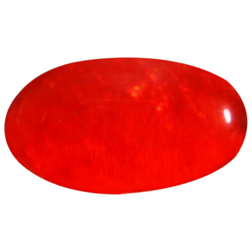 1.66 ct Impressive Oval Cabochon Shape 13x7 mm Red Opal Natural Loose Gemstone