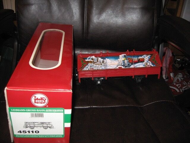 LGB Red Christmas Covered Gondola New In Box
