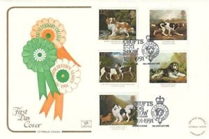 8-JANUARY-1991-DOGS-COTSWOLD-FIRST-DAY-COVER-CRUFTS-DOG-SHOW-SHS