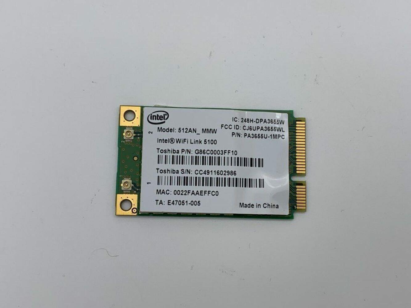 Toshiba Satellite A300 512AM_MMW WiFi Card - AU Seller - Free Post