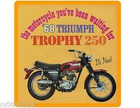 1968 Motorcycle Triumph 250 Refrigerator / Toolbox Magnet