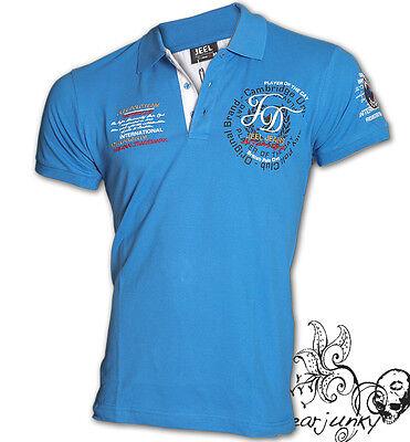 """★Jeel """"Royal Poloclub"""" Polohemd Slim Fit Clubwear Hemd T-Shirt Polo-Neu S-XXL★"""