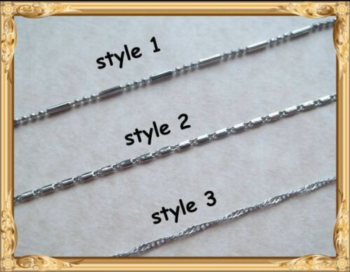 "Length 16/"" -CHOOSE DESIGN STAINLESS STEEL NACKLACE CHAINS 40cm"