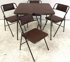 cosco folding card table with 4 chairs lot 3567 ebay. Black Bedroom Furniture Sets. Home Design Ideas