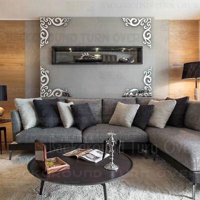 diagonal frame pattern TV backdrop mirror wall stickers hair salon decor home de