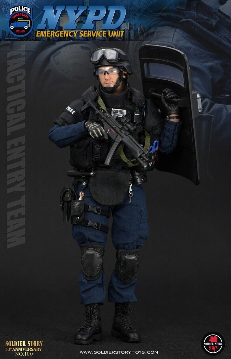 "Soldier Story 1 6 NYPD ESU ""TACTICAL ENTRY TEAM"" Action Figure SS100"