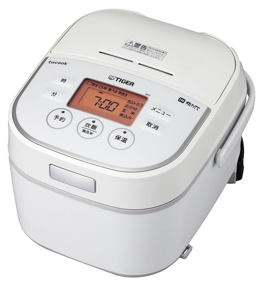TIGER JKU-A551-W IH Jar Rice Cooker Tacook 3 Go White 100V & Recipe