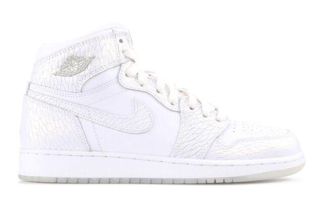 Nike Air Jordan I 1 Retro GS HEIRESS WHITE PLATINUM SILVER 832596-100 sz 7Y Kids