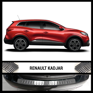 2015Up-Renault-Kadjar-Chrome-Rear-Bumper-Protector-Scratch-Guard-S-Steel