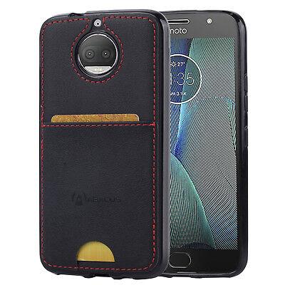 size 40 cf210 cf8c0 Motorola Moto G5s 5s Plus Case, Slim Fit Back Cover w/ Card Pocket - Black  848845093333   eBay