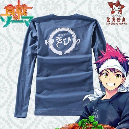 Shokugeki no Soma Yukihira Souma T-shirt cotton Cosplay Costume headscarves Set