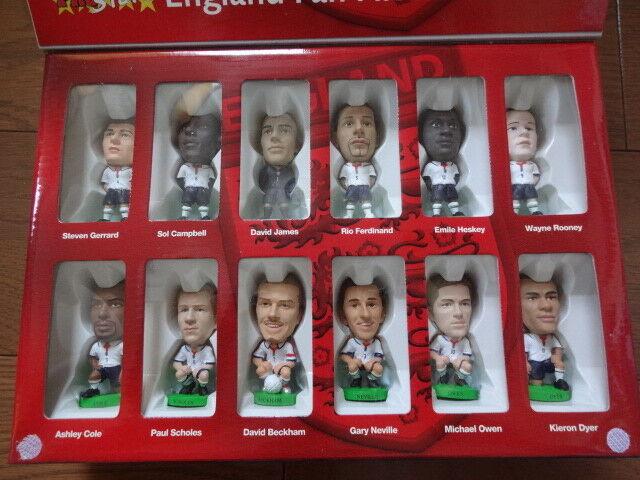 Corinthian ProEstrellas 2004 Ventilador favorito Inglaterra figura Box set Beckham, Gerrard
