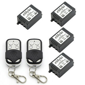 Smart-RF-Relay-Wireless-Remote-Control-Switch-with-2-Transmitters-AC-220V-4X1CH