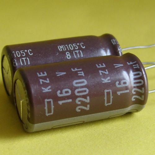 5 PCS RUBYCON Electrolytic Capacitor 2200uF16V 105C 12.5*25mm US STOCK