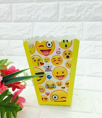 EMOJI THEMED POPCORN BOXESLOLLY BOX PARTY SUPPLIESFAVOURS