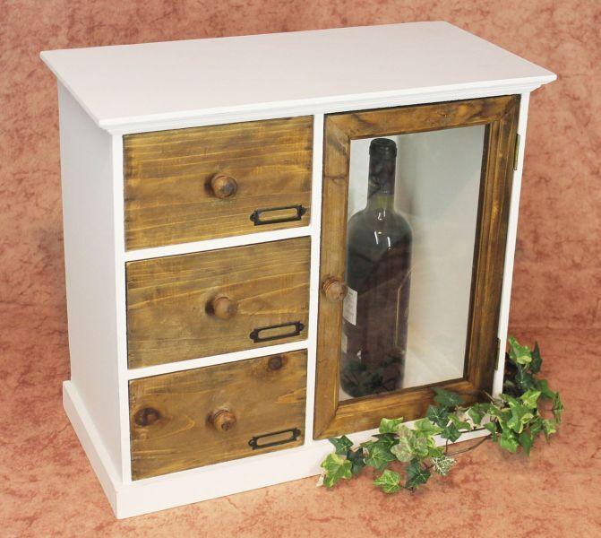 Schrank Minikommode 12019 Küchenschrank Regal 50 cm Shabby Küchenregal Vitrine