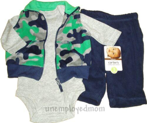 Carters Boys Outfit Pants Bodysuit Shirt 3 piece Set Baby Little Layette Wonders