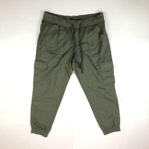 Gap Cargo Knit Capri Olive Green Baby Tweed Drawstring Pants Small NWT B23