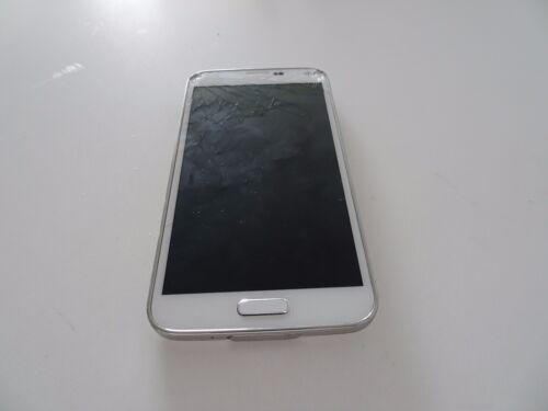 1 of 1 - Samsung  Galaxy S5 SM-G900I - 16GB - Shimmery White Smartphone (Broken Screen)