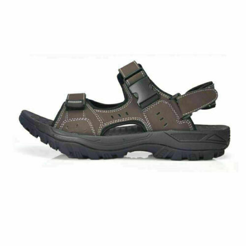 Men/'s Leather Sandals Casual Flats Open Toe Slippers Outdoor Sports Beach Shoes