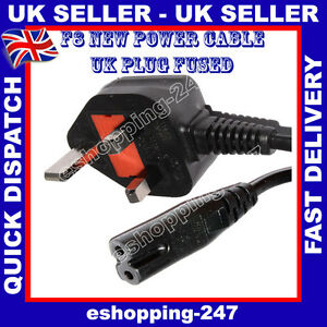 NEW-Power-Cable-for-Sony-PS1-PS2-PS2-SLIM-PS3-SLIM-F8-UK-PLUG-L017