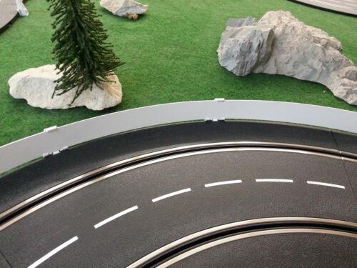 Passend zu Carrera Exclusiv//Evo//Digital 132 Leitplanken Streifen  5m weiß