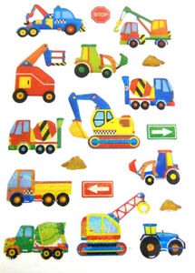 Details about Digger Construction Stickers Kids Labels for Craft Decoration  Card-Making CRY10