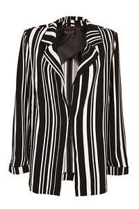 Damen Blazer Longblazer schwarz weiss LAURA SCOTT NEU Größe 38 40 42 44