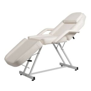 White Massage Facial Bed Adjustable Table Chair Beauty Spa