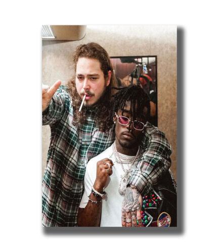Malone /& Lil Uzi Vert Rap Hip Hop Music Singer Star Fabric Poster Art TY819 36In