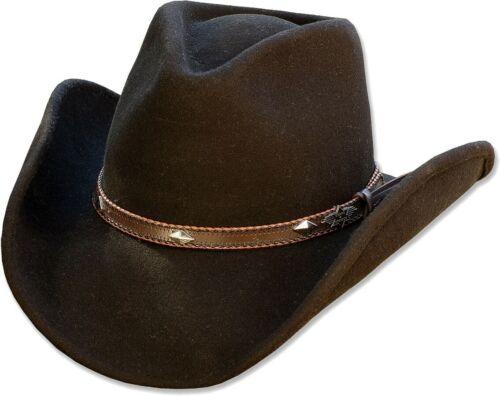 Westernhut Cowboyhut Bogarthut Wollhut Countryhut Unisex Trilbys »DALLAS« Black