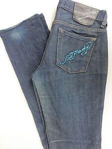 Ed-Hardy-Distressed-Jeans-Straight-Leg-By-Christian-Audigier-Women-Size-28