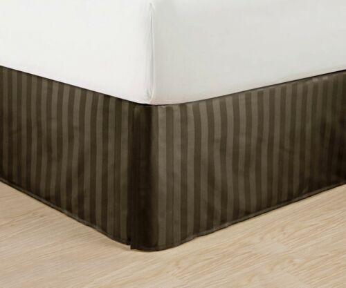 Tailored Drop Pleated Egyptian StripeBedskirt-Luxury Microfiber Dust Ruffle 14