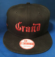 Grand Marnier Liquor Black Snap Back Baseball Hat Cap Adjustable Embroidered