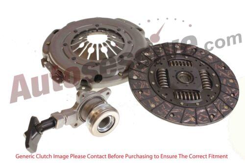 Aut872 VW Fox 1.4 Tdi 3 Piece Clutch Kit Replacement Set 70 Bhp 04.05