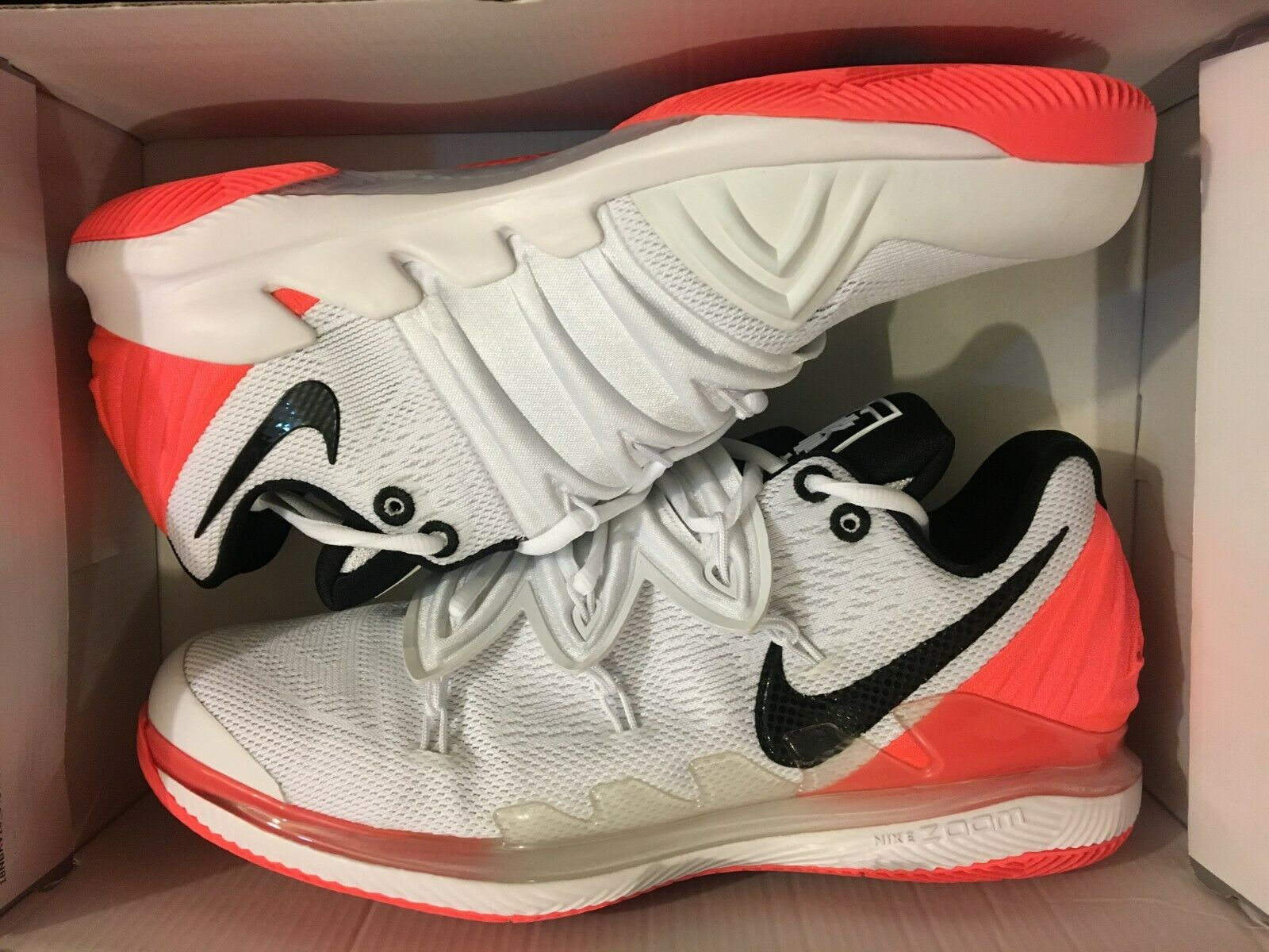 NEW NIKE AIR ZOOM VAPOR X KYRIE V HOT LAVA 5 CASUAL SHOE BQ5952-100 MEN SIZE 11