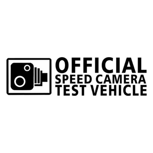 Funny SPEED CAMERA TEST VEHICLE Sticker Car Auto Window Bumper JDM Vinyl Decal
