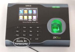 Details about ZKteco U160 TCP/IP Fingerprint Time Attendance ZK WiFi  Fingerprint Time Clock