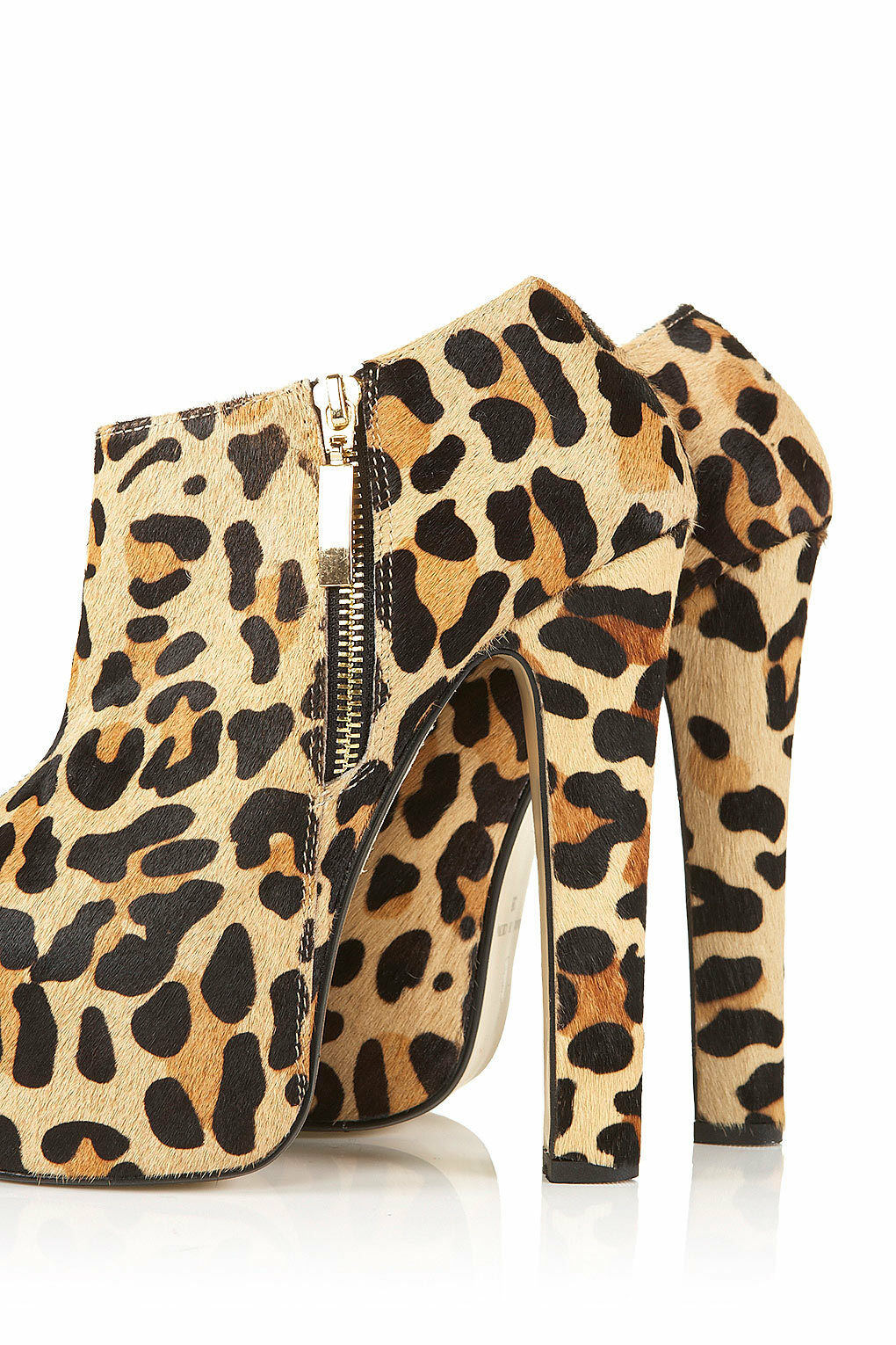 New with Stiefel box TOPSHOP ARISTOCRAT superhigh Stiefel with UK 4 in True Leopard c6c21a
