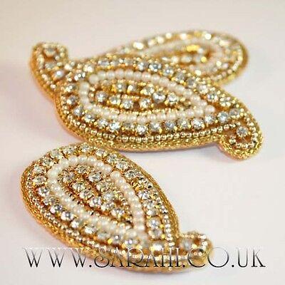 GOLD Rhinestone STONE APPLIQUE,MOTIF, edging,trim,sequins,beads