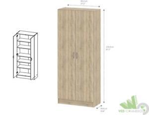 Kit Armadio Scarpiera 2 Ante Quercia 69x34x175h Cm 5 Ripiani Sportelli Mobile Home & Garden Furniture