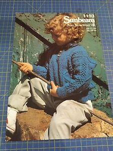 Sunbeam-Child-039-s-Sweater-with-Button-Up-Neck-Line-Knitting-Pattern-1193