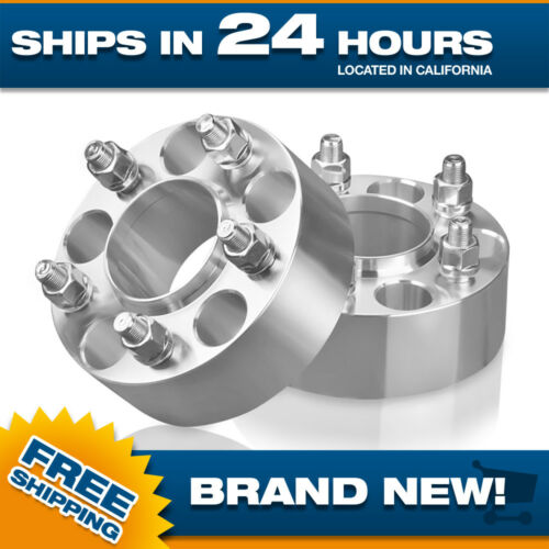 2 Ford Hub Centric Wheel Spacers Adapters 5 lug to 5x135 2 inch thick 14x2 studs