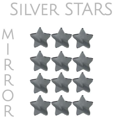 Plata Espejo de acrílico en forma de estrella Adornos para artes y oficios 20mm X 20