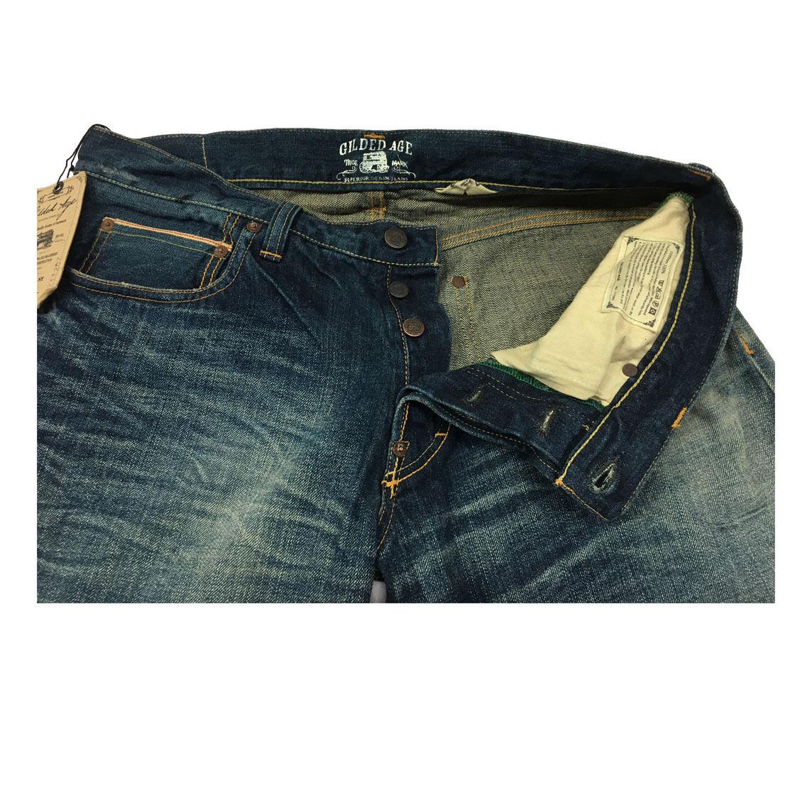 GILDED AGE jeans uomo mod GA GA GA 1011-B BAXTEN 100% cotone MADE IN JAPAN d1863f