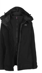 * Karrimor 3 In 1 Jacket Weathertite Black Coat Size 12 Medium  *REF175*