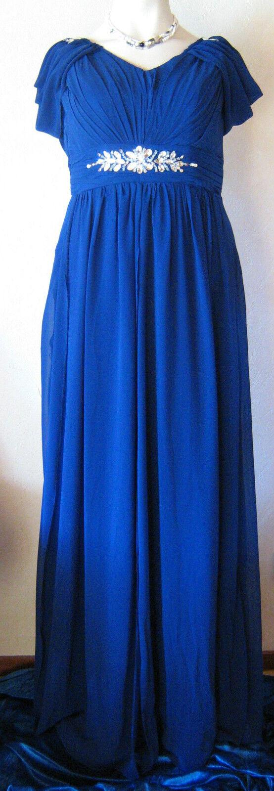 Abendkleid - royalblau - Gr. 44