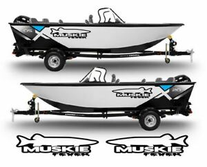 Muskie-Fever-Decals-Stickers-Left-amp-Right-fish-rod-boat-lure-turbo-Set-of-2