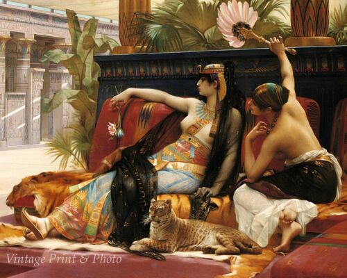 Cleopatra by Alexandre Cabanel Art Egyptian Queen Slave Girl 8x10 Print 0996