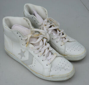 Stars White Hi-Top Shoes Sneakers Size